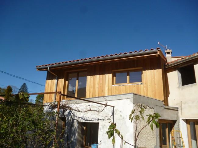 Extension sur garage - architecte B. Cabanne - Sorède - 2014