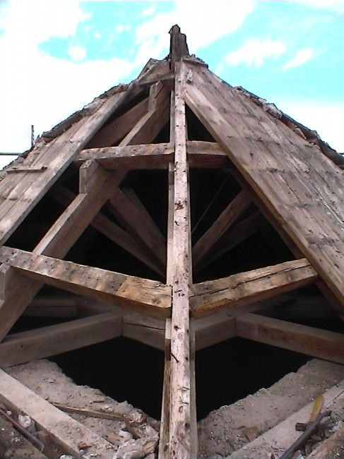 Réfection clocher - Vinassan - 2002