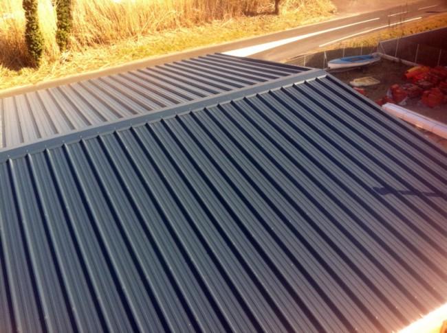 Couverture bac acier avec 60 mm d