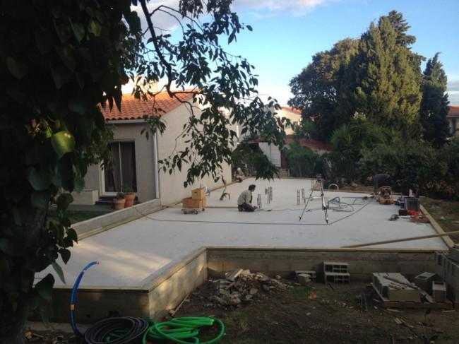 Maison ossature bois avec les différentes étapes de la construction - Saint André - 2016