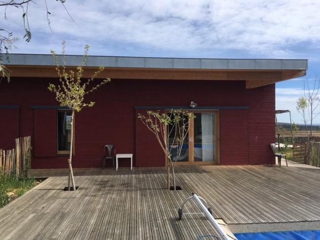 maison ossature bois - architecte P. De Boissieu - Calce - 2017